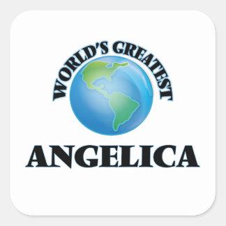 World's Greatest Angelica Square Sticker