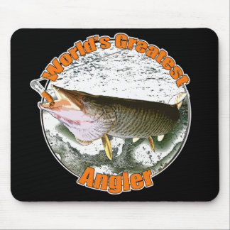 World's greatest angler mouse pad