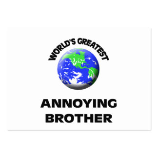 World's Greatest Annoying Brother Business Card Template