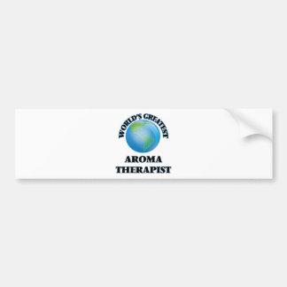 World's Greatest Aroma Therapist Car Bumper Sticker