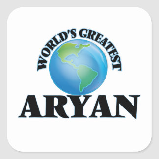 World's Greatest Aryan Square Sticker