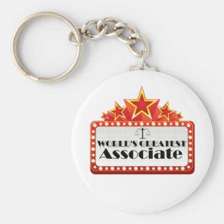 World's Greatest Associate Basic Round Button Key Ring
