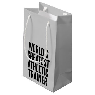 Worlds Greatest Athletic Trainer Small Gift Bag