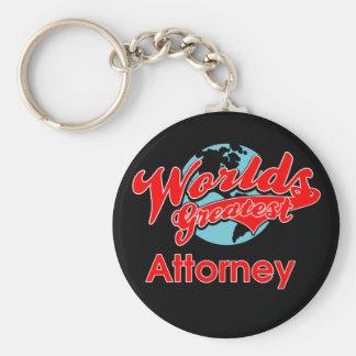 World's Greatest Attorney Basic Round Button Key Ring