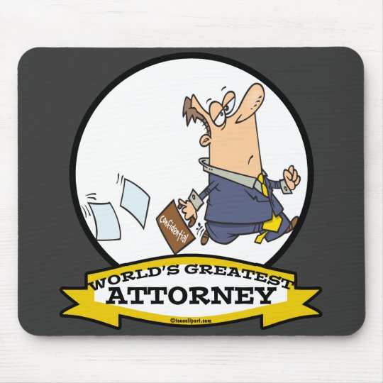 WORLDS GREATEST ATTORNEY MEN III CARTOON MOUSE PAD