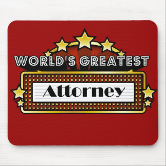 World's Greatest Attorney Mouse Mat