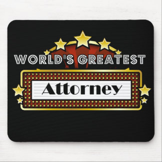 World's Greatest Attorney Mouse Pad