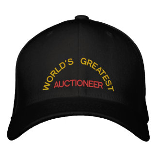 WORLD'S GREATEST, AUCTIONEER EMBROIDERED HATS