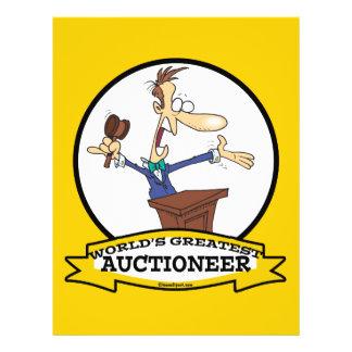 WORLDS GREATEST AUCTIONEER MEN CARTOON 21.5 CM X 28 CM FLYER
