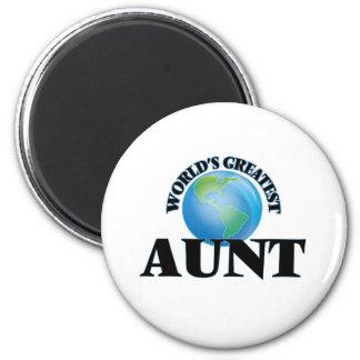 World's Greatest Aunt 6 Cm Round Magnet