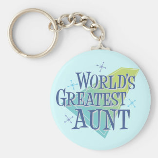 World's Greatest Aunt Key Ring