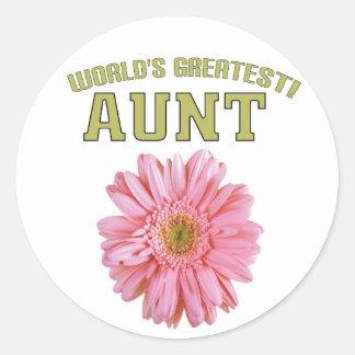 World's Greatest Aunt! Round Sticker