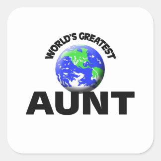 World's Greatest Aunt Square Sticker