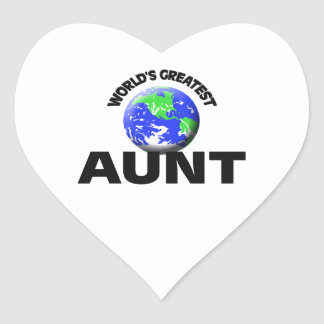 World's Greatest Aunt Stickers