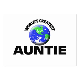 World's Greatest Auntie Business Card Template