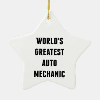 Worlds Greatest Auto Mechanic Christmas Ornament