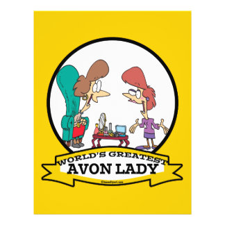 WORLDS GREATEST AVON LADY WOMEN CARTOON 21.5 CM X 28 CM FLYER