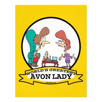 WORLDS GREATEST AVON LADY WOMEN CARTOON FLYER DESIGN