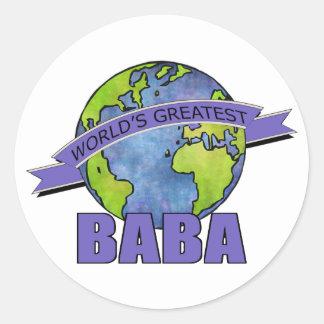 World's Greatest Baba Classic Round Sticker