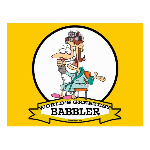 WORLDS GREATEST BABBLER WOMEN CARTOON POSTCARDS