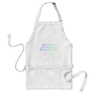 Worlds Greatest Babysitter Adult Apron