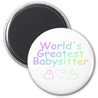 Worlds Greatest Babysitter Fridge Magnet