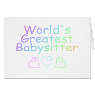 Worlds Greatest Babysitter Greeting Card