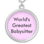 World's Greatest Babysitter Personalized Necklace