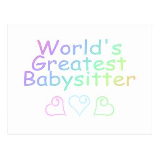 Worlds Greatest Babysitter Postcard