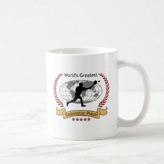 World's Greatest Badminton Player (Men) Coffee Mug