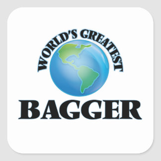 World's Greatest Bagger Square Stickers