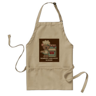 World's greatest baker add text kitchen apron