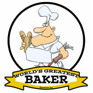 WORLDS GREATEST BAKER MEN CARTOON PHOTO SCULPTURE