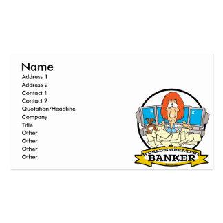 WORLDS GREATEST BANKER CARTOON BUSINESS CARD TEMPLATE
