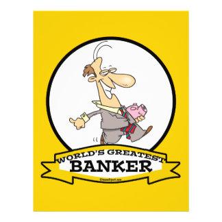WORLDS GREATEST BANKER MEN CARTOON PERSONALIZED FLYER