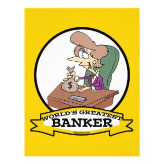 WORLDS GREATEST BANKER WOMEN CARTOON 21.5 CM X 28 CM FLYER