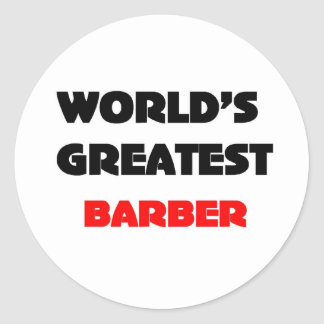 World's greatest barber classic round sticker