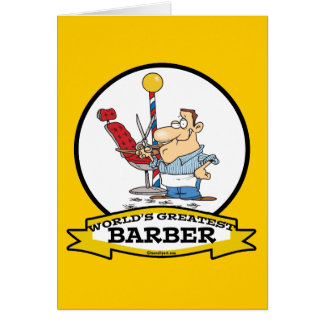 WORLDS GREATEST BARBER MEN CARTOON GREETING CARD