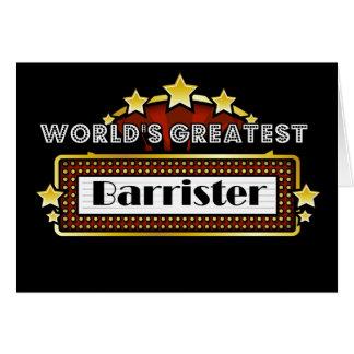 World's Greatest Barrister Card