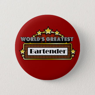 World's Greatest Bartender 6 Cm Round Badge