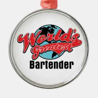 Worlds Greatest Bartender Christmas Ornament