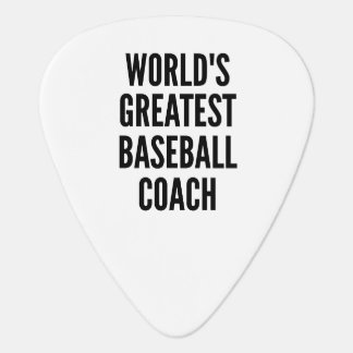 Worlds Greatest Baseball Coach Plectrum