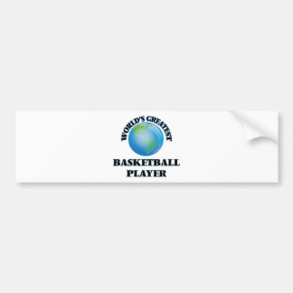 World's Greatest Basketball Player Bumper Sticker