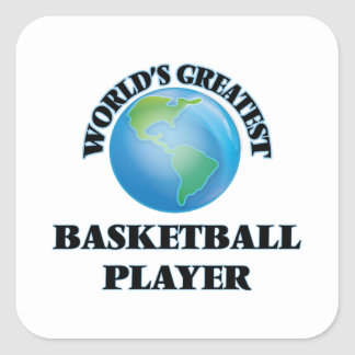 World's Greatest Basketball Player Square Stickers