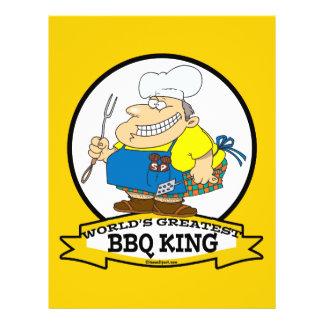 WORLDS GREATEST BBQ KING MEN CARTOON 21.5 CM X 28 CM FLYER