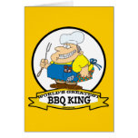 WORLDS GREATEST BBQ KING MEN CARTOON GREETING CARDS