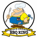 WORLDS GREATEST BBQ KING MEN CARTOON CUT OUTS