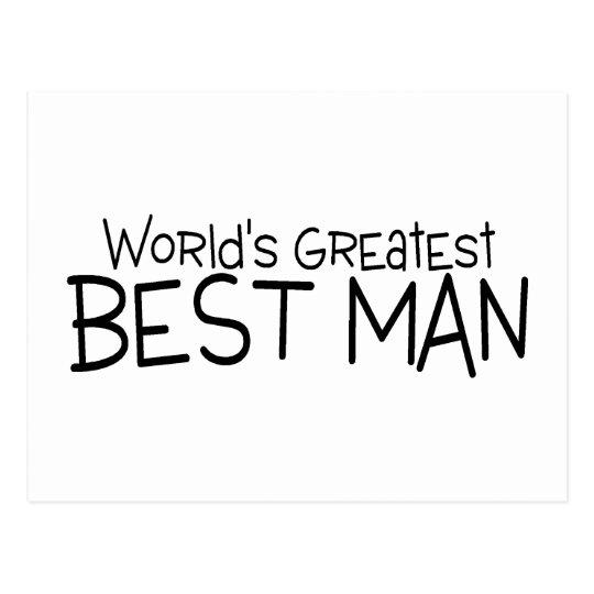 Worlds Greatest Best Man Postcard