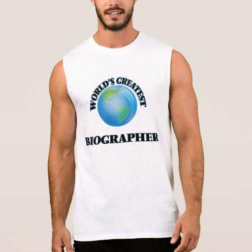 World's Greatest Biographer Sleeveless Shirt