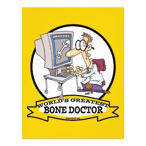 WORLDS GREATEST BONE DOCTOR MEN CARTOON FLYER DESIGN